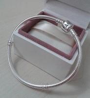 Brand snake chain bracelets 925 silver crystal silver chamilia beads bracelets charm bracelet for woman Charm Chamilia bracelet