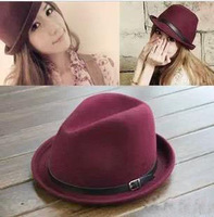 Woolen fashion jazz fedoras hat wool fashion cap autumn and winter female hat