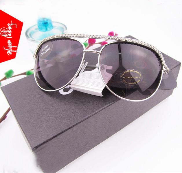 2014 New women sunglass diamante bling Oval punk RB sun glasses fashion brand designer women's rhinestone sunglasses ZG002(China (Mainland))