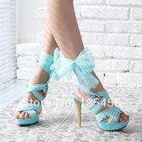 Bohemian Womens Strappy Platform Pumps High Heels Open Toes Mesh Sandles Shoes