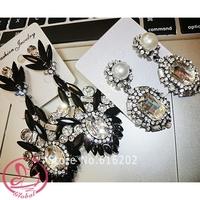 D23 2014 Women's Earrings Gem Sparkling Crystal Long Dangle Earrings Full Rhinestone Big Earrings Female Accessories