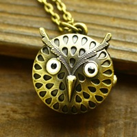 Free shipping wholesale 2013 vintage bronze watches owl-shaped hot sale dropship