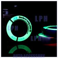 2014 New Luminous Night Glow Auto Ignition Key Ring Protector Decoration Sticker for Volkswagen / Skoda / Audi