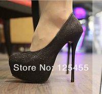 Hot Womens Bling Stiletto High Heels Platform Classic Pumps Shoes Evening Party