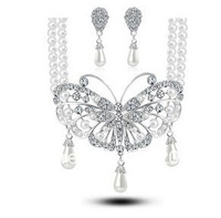 15.FreeShipping Alloy lady jewelry set Pandent+Earrings with Crystal.for gift,wedding,engagement.MINIMUM ORDER $15