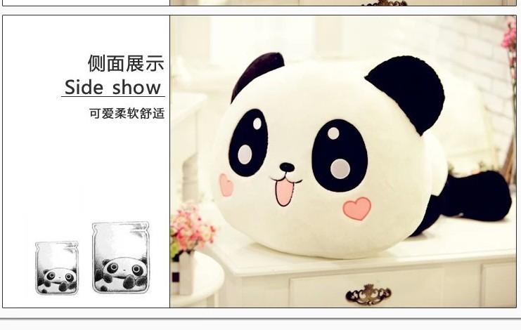 Stuffed animal panda large Laying Panda about 21 inch plush toy 55cm doll GIFT wp65(China (Mainland))