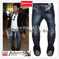 W29-W40#L34#825,New 2014 Italian Famous Brand Men's Jeans,Fashion Designer Straight Large Size Denim Jeans Pants Perfume Men