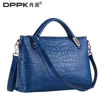 Fashion fashion 2014 oil skin trend women's crocodile pattern handbag bags portable women's cross-body bags
