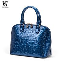 Wanlima shell bags women's handbag luxury fashion cowhide shoulder bag zipper handbag