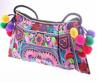 2014 new Embroidered bags small bag National trend handmade fabric embroidery one shoulder cross-body women's messenger handbag