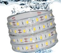 5m 300led 5630smd led strip light White IP68 waterproof flexible strip led for car lighting/garden lighting free shipping
