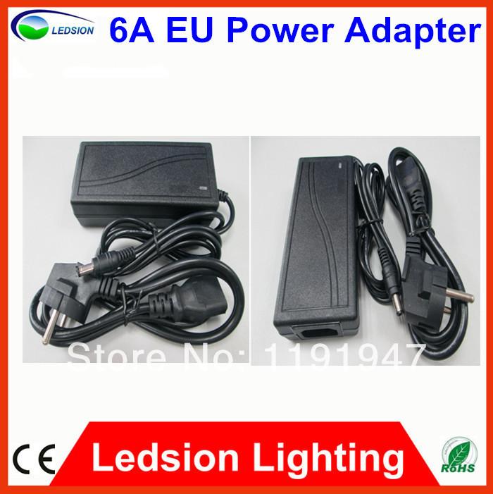 10Pcs Fedex free AC 100-240V DC 12V 6A 72W Power Supply for LED Strip Light 5050 SMD EU/AU/US/UK Power Converter Adapter CE ROHS(China (Mainland))