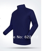 Spring Outdoor speed drying coolmax collar long-sleeved men's T-shirts fast drying quick-drying Free shipping