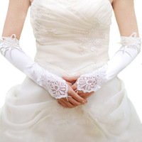 Accessories gloves married long design lace bridal gloves white beading lucy refers to gloves