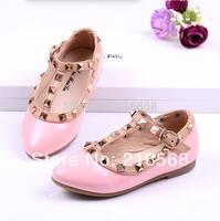 2014 Korean metal rivets shoes princess shoes girls shoes single shoes latest spring,Autumn EUR21-37