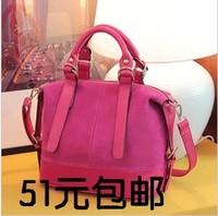 2013 autumn and winter sanded women's handbag fashion bag bucket suede leather handbag messenger bag