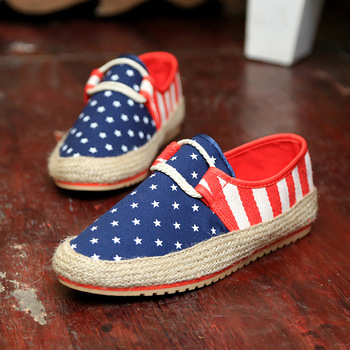 Men Fashion Casual Slip On Low Top Espadrille Flats Shoes Men s Summer Flag Floral
