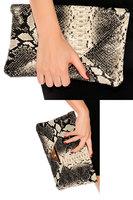 Noble serpentine pattern day clutch womens snake print clutch bag 74002
