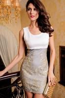 Dl sleeveless vest sexy embroidery fashion quality 2784 one-piece dress