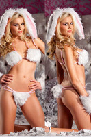 Dl halloween sexy fur rabbits loaded domesticated hen costumes costume 8602