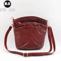2014 genuine leather women messenger bags women's handbag leather handbag shell bag three layer fashion bags DF7E