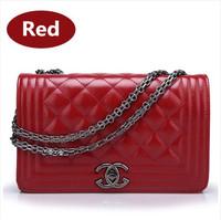 2014 new fashionable ladies diamond lattice chain Bag Messenger Shoulder Bag women women handbag