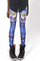 Spring 2014 New Arrival Women Galaxy Designed Digital Printed Milk Vintage Tartan Owl Leggings Free Shipping--K304