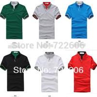 STAND COLLAR plus size men shirt new  men's t  shirt mens la cotton  t shirt male casual shirt camisa  012