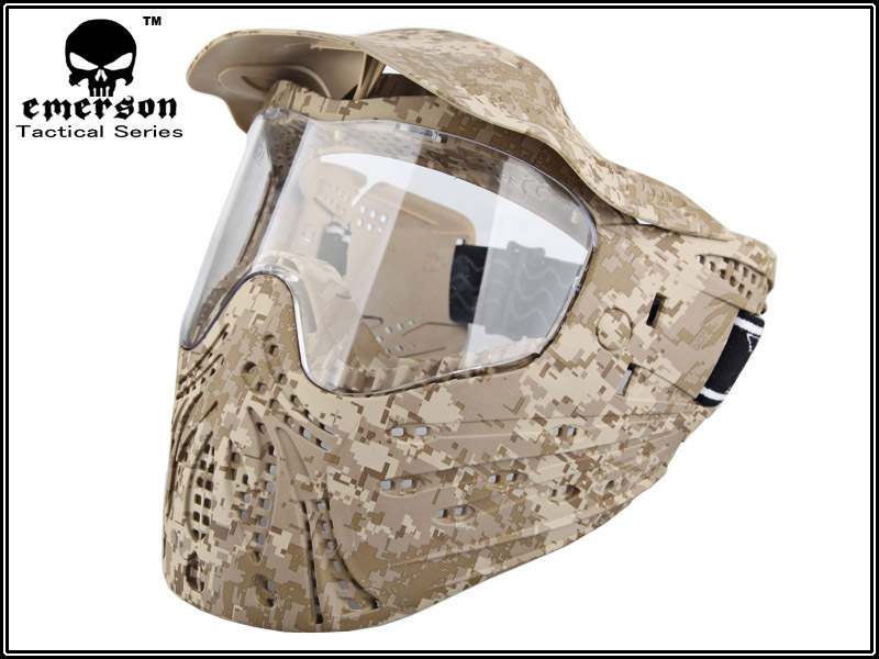 Military Equipment Airsoft Paintball SWAT Dust Protective Combat Tactical Full Face protection Anti-Strike Mask Desert Digital(China (Mainland))