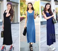 Exclusive! S - XL! 10 Colors New 2014  Women High Quality Modal casual Bohemia Maxi women Long Dress