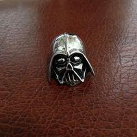 Black Silver Darth Vader Mask Helmet Dark Lord Sith Star Wars Men's Jewelry Brooch brooches Lapel Pin For Mens