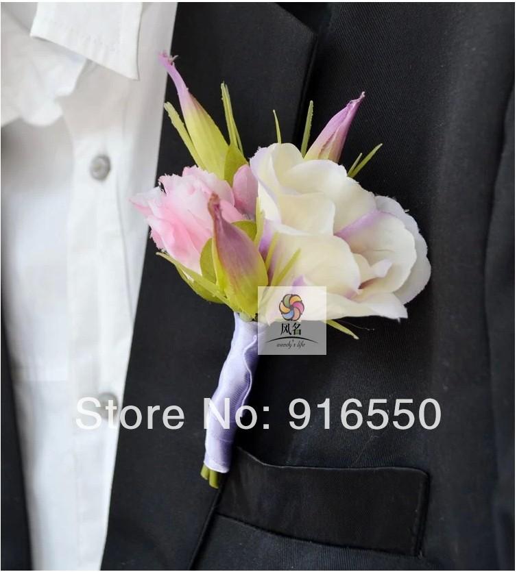 Wedding Flower Silk Bellflower Groom or Groomsmen Flower Silk ...