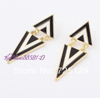 Hot Sale 1pair Retro Vintage Alloy Women Silver Golden Long Bohemian Pierced Earrings EH-0002