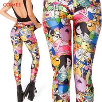 Adventure Time Bro Ball Leggings 2014 fashion new women Digital print Galaxy Pants BLACK MILK Free shipping