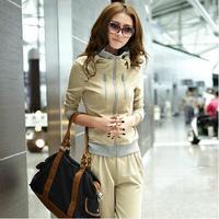2014 New brand women sport suits sportwear women sets long sleeve tracksuit jacket+pants sweatshirts 3 colors 0166