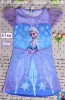 2014 New Girls Frozen Princess Elsa girl clothes dresses Sets sofia Kids Spring Summer Clothing set 5 sizes for choice