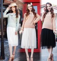 Original 6 Colors 2014 New Excellent Bohemian Skirt Chiffon Fashion Long Princess pleated Skirt High Quality Drop Shipping