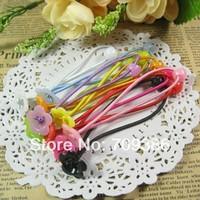 Handmade Diy hair accessory Children DIY Elasticity hair ropes rubber band elastic hair bands with bead beads flower