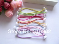 Handmade Diy hair accessory Children DIY Elasticity hair ropes rubber band elastic hair bands with white bead