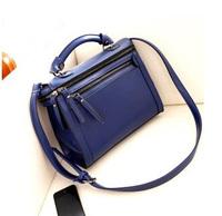 Free shipping !Wholesale!The new 2014 channel vintage locomotives double zipper PU women handbags, messenger bag, shoulder bag