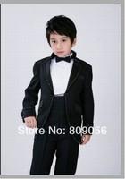 B734 excellent black waistcoat suit page boy suit Boy Wedding Suit Boys' Formal Occasion Attire Custom made suit tuxedo