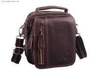 New Mens Black Genuine Leather Pocket Belt Loops Mini Waist Bag Pouch Wallet Purse Men