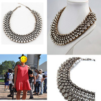 Hot Kate 1:1 Grade Necklace A+ Royal Statement Dazzling Big Chunky Choker bib Sparkly Crystal Bead Necklaces & Pendants Women's