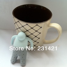 Fedex Free Shipping 100pcs lot Mr Tea Silcione Infuser Fred Throw Some Tea in the Trousers