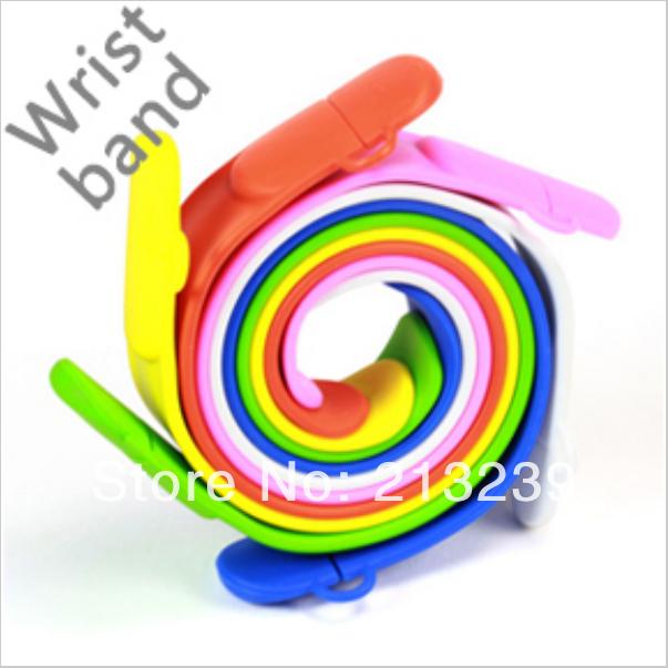 New Cartoon Novelty Wristband model usb 2.0 memory flash stick pendrive Genuine 4gb/8gb/16gb/32gb Freeshipping(China (Mainland))