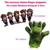 <30pcs/set> World Nursery Rhyme Puppets-Five Little Monkeys Swing In A Tree Plush Finger Puppets For Kids/Students Talking Props