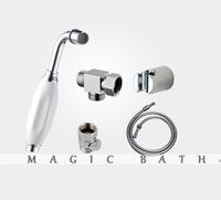 2014 new seconds kill toilet bidet faucet toilet bath tub faucet handshower-chrome with white procelain handle free shipping