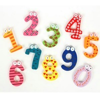 1set  Gift Set 10 Number Wooden Fridge Magnet Education Learn Cute Kid Baby Toy Worldwide Free Shipping