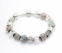Hot Sell Items Silver European Style Charm Bracelet Chamilia Fashion Jewelry for Women 46-b5