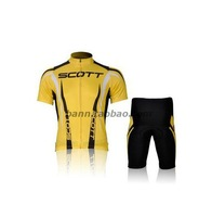 Short version of the team jersey bike sleeved yellow suit